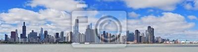 Постер Чикаго Чикаго, город, городской горизонт панорамаЧикаго<br>Постер на холсте или бумаге. Любого нужного вам размера. В раме или без. Подвес в комплекте. Трехслойная надежная упаковка. Доставим в любую точку России. Вам осталось только повесить картину на стену!<br>