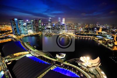 Постер Сингапур Сингапур-город ночьюСингапур<br>Постер на холсте или бумаге. Любого нужного вам размера. В раме или без. Подвес в комплекте. Трехслойная надежная упаковка. Доставим в любую точку России. Вам осталось только повесить картину на стену!<br>