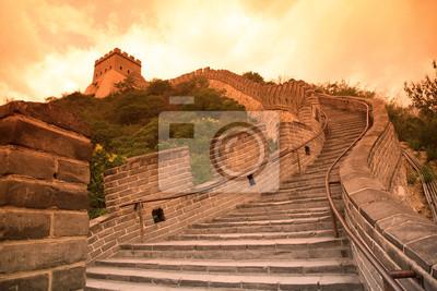 Постер Пекин Закат Великой Стены, Пекин, КитайПекин<br>Постер на холсте или бумаге. Любого нужного вам размера. В раме или без. Подвес в комплекте. Трехслойная надежная упаковка. Доставим в любую точку России. Вам осталось только повесить картину на стену!<br>