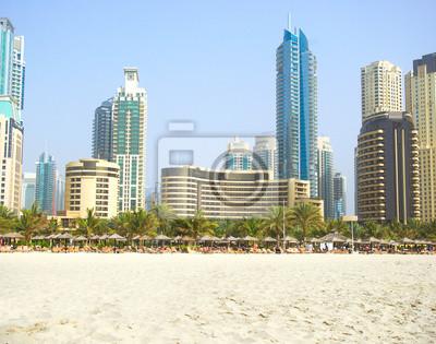 Постер Дубай Дубай Город пейзаж в Дубае, Объединенные Арабские Эмираты.Дубай<br>Постер на холсте или бумаге. Любого нужного вам размера. В раме или без. Подвес в комплекте. Трехслойная надежная упаковка. Доставим в любую точку России. Вам осталось только повесить картину на стену!<br>