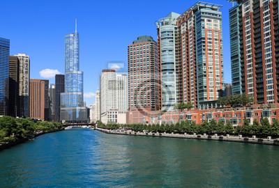 Постер Чикаго Красивая Река ЧикагоЧикаго<br>Постер на холсте или бумаге. Любого нужного вам размера. В раме или без. Подвес в комплекте. Трехслойная надежная упаковка. Доставим в любую точку России. Вам осталось только повесить картину на стену!<br>