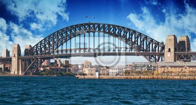 Постер Сидней Sydney Harbour Bridge и Австралии НебоСидней<br>Постер на холсте или бумаге. Любого нужного вам размера. В раме или без. Подвес в комплекте. Трехслойная надежная упаковка. Доставим в любую точку России. Вам осталось только повесить картину на стену!<br>