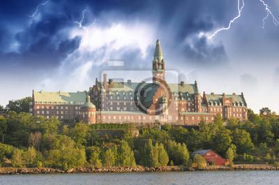 Постер Стокгольм Danvikshem, Название Муниципалитета Стокгольм - ШвецияСтокгольм<br>Постер на холсте или бумаге. Любого нужного вам размера. В раме или без. Подвес в комплекте. Трехслойная надежная упаковка. Доставим в любую точку России. Вам осталось только повесить картину на стену!<br>