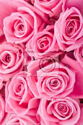Постер Розы Розовые розыРозы<br>Постер на холсте или бумаге. Любого нужного вам размера. В раме или без. Подвес в комплекте. Трехслойная надежная упаковка. Доставим в любую точку России. Вам осталось только повесить картину на стену!<br>
