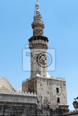 Постер Сирия Минарет Арабские Мечети в Дамаске, Сирия.Сирия<br>Постер на холсте или бумаге. Любого нужного вам размера. В раме или без. Подвес в комплекте. Трехслойная надежная упаковка. Доставим в любую точку России. Вам осталось только повесить картину на стену!<br>