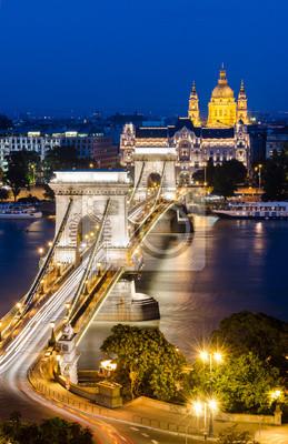 Постер Будапешт Цепной Мост, БудапештБудапешт<br>Постер на холсте или бумаге. Любого нужного вам размера. В раме или без. Подвес в комплекте. Трехслойная надежная упаковка. Доставим в любую точку России. Вам осталось только повесить картину на стену!<br>