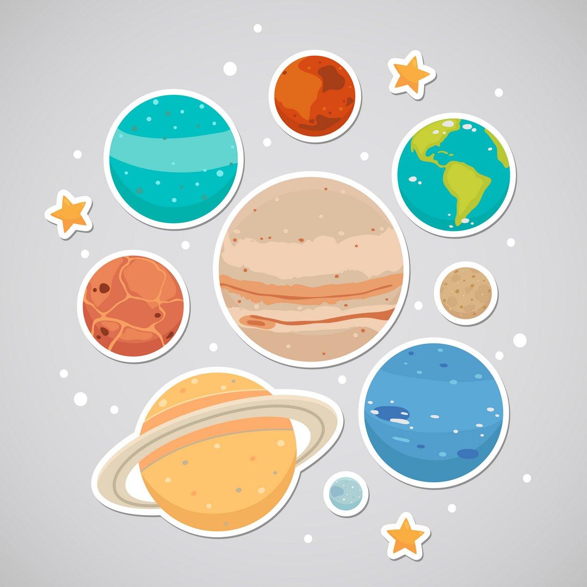 Постер Космос детям Наклейка с планетамиКосмос детям<br>Постер на холсте или бумаге. Любого нужного вам размера. В раме или без. Подвес в комплекте. Трехслойная надежная упаковка. Доставим в любую точку России. Вам осталось только повесить картину на стену!<br>