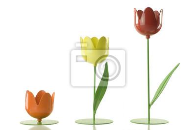 Постер Тюльпаны Три-желтый, красный и оранжевый металлик тюльпаныТюльпаны<br>Постер на холсте или бумаге. Любого нужного вам размера. В раме или без. Подвес в комплекте. Трехслойная надежная упаковка. Доставим в любую точку России. Вам осталось только повесить картину на стену!<br>