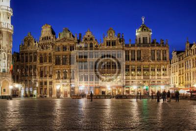 Grand Place, Брюссель, Бельгия, 30x20 см, на бумагеБрюссель<br>Постер на холсте или бумаге. Любого нужного вам размера. В раме или без. Подвес в комплекте. Трехслойная надежная упаковка. Доставим в любую точку России. Вам осталось только повесить картину на стену!<br>