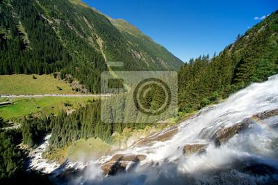 Постер Водопады Альп красивый горный водопад (Австрия, Тироль) лето видВодопады<br>Постер на холсте или бумаге. Любого нужного вам размера. В раме или без. Подвес в комплекте. Трехслойная надежная упаковка. Доставим в любую точку России. Вам осталось только повесить картину на стену!<br>