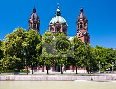 Постер Мюнхен St. Lukas церкви, Мюнхен, ГерманияМюнхен<br>Постер на холсте или бумаге. Любого нужного вам размера. В раме или без. Подвес в комплекте. Трехслойная надежная упаковка. Доставим в любую точку России. Вам осталось только повесить картину на стену!<br>