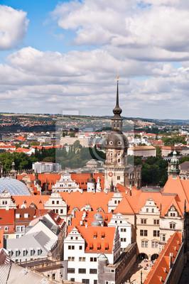 Постер Дрезден Дрезден, areial вид на Старый ГородДрезден<br>Постер на холсте или бумаге. Любого нужного вам размера. В раме или без. Подвес в комплекте. Трехслойная надежная упаковка. Доставим в любую точку России. Вам осталось только повесить картину на стену!<br>
