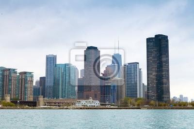 Постер Чикаго Темные Тучи на финансовый Район в ЧикагоЧикаго<br>Постер на холсте или бумаге. Любого нужного вам размера. В раме или без. Подвес в комплекте. Трехслойная надежная упаковка. Доставим в любую точку России. Вам осталось только повесить картину на стену!<br>