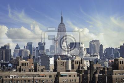 Постер Города и карты Бурные Небо над Нью-Йорком, 30x20 см, на бумагеНью-Йорк<br>Постер на холсте или бумаге. Любого нужного вам размера. В раме или без. Подвес в комплекте. Трехслойная надежная упаковка. Доставим в любую точку России. Вам осталось только повесить картину на стену!<br>