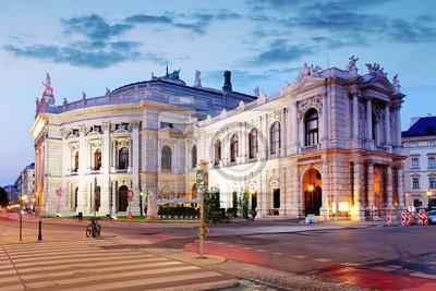 Постер Вена Государственный Театр в Вене, Австрия ночьюВена<br>Постер на холсте или бумаге. Любого нужного вам размера. В раме или без. Подвес в комплекте. Трехслойная надежная упаковка. Доставим в любую точку России. Вам осталось только повесить картину на стену!<br>