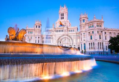 Постер Мадрид Plaza de Cibeles, Мадрид, Испания.Мадрид<br>Постер на холсте или бумаге. Любого нужного вам размера. В раме или без. Подвес в комплекте. Трехслойная надежная упаковка. Доставим в любую точку России. Вам осталось только повесить картину на стену!<br>