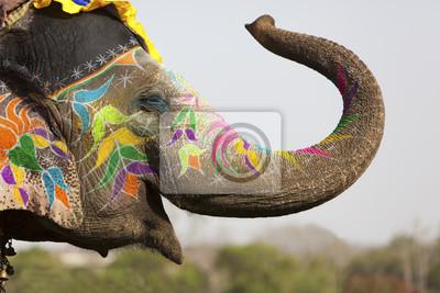 Украшенном слоне на фестиваль слонов в Джайпуре, 30x20 см, на бумагеИндия<br>Постер на холсте или бумаге. Любого нужного вам размера. В раме или без. Подвес в комплекте. Трехслойная надежная упаковка. Доставим в любую точку России. Вам осталось только повесить картину на стену!<br>
