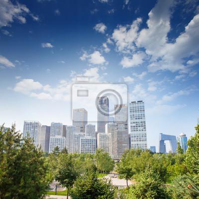 Постер Пекин Пейзаж современного города ,КитайПекин<br>Постер на холсте или бумаге. Любого нужного вам размера. В раме или без. Подвес в комплекте. Трехслойная надежная упаковка. Доставим в любую точку России. Вам осталось только повесить картину на стену!<br>