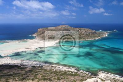 Постер Греция Balos пляж на острове Крит в ГрецииГреция<br>Постер на холсте или бумаге. Любого нужного вам размера. В раме или без. Подвес в комплекте. Трехслойная надежная упаковка. Доставим в любую точку России. Вам осталось только повесить картину на стену!<br>