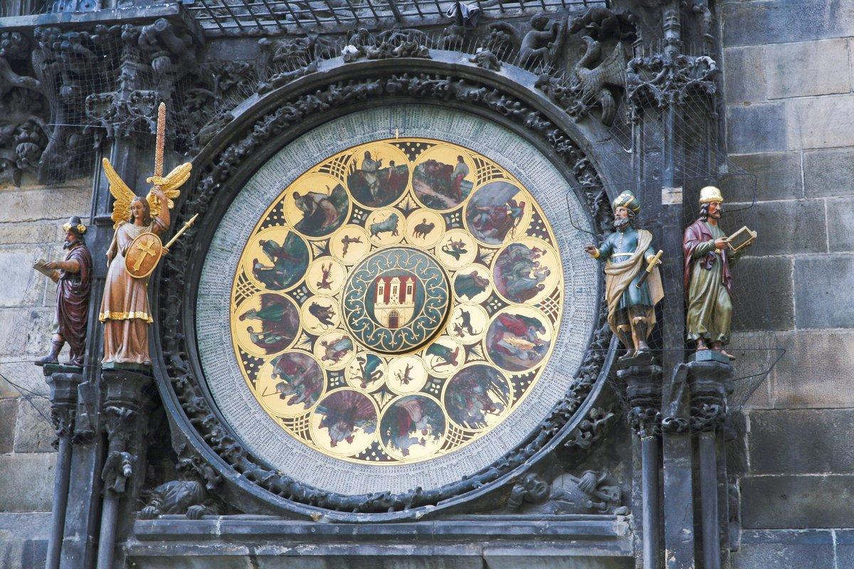 Постер Прага Знаменитые часы в Праге.Прага<br>Постер на холсте или бумаге. Любого нужного вам размера. В раме или без. Подвес в комплекте. Трехслойная надежная упаковка. Доставим в любую точку России. Вам осталось только повесить картину на стену!<br>