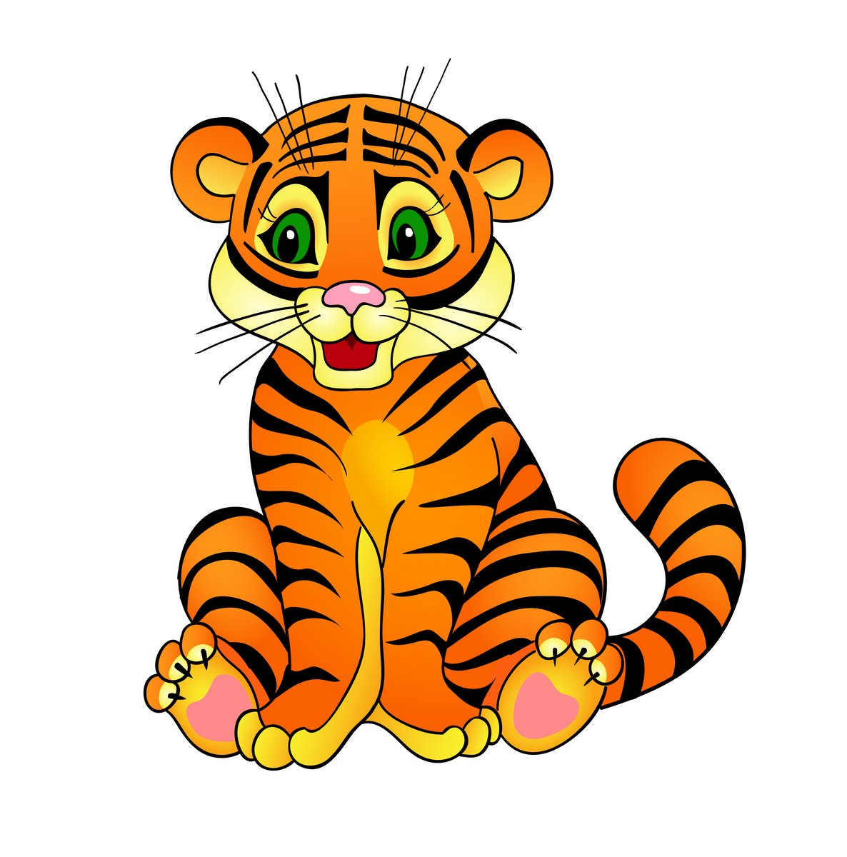 Cute tiger pictures animation