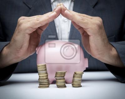 Постер Деньги и финансы Экономия денег концепцииДеньги и финансы<br>Постер на холсте или бумаге. Любого нужного вам размера. В раме или без. Подвес в комплекте. Трехслойная надежная упаковка. Доставим в любую точку России. Вам осталось только повесить картину на стену!<br>