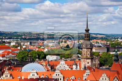 Постер Дрезден Дрезден, areial вид из FrauenkirscheДрезден<br>Постер на холсте или бумаге. Любого нужного вам размера. В раме или без. Подвес в комплекте. Трехслойная надежная упаковка. Доставим в любую точку России. Вам осталось только повесить картину на стену!<br>