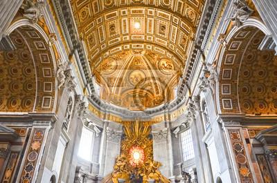 Постер Ватикан Собор Святого Петра в РимеВатикан<br>Постер на холсте или бумаге. Любого нужного вам размера. В раме или без. Подвес в комплекте. Трехслойная надежная упаковка. Доставим в любую точку России. Вам осталось только повесить картину на стену!<br>