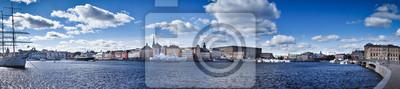 Красивая панорама Gamla Stan, Стокгольм, Швеция, 90x20 см, на бумагеСтокгольм<br>Постер на холсте или бумаге. Любого нужного вам размера. В раме или без. Подвес в комплекте. Трехслойная надежная упаковка. Доставим в любую точку России. Вам осталось только повесить картину на стену!<br>