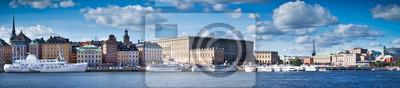 """Постер Стокгольм """"Красивая панорама Gamla Stan, Стокгольм, Швеция"""""""