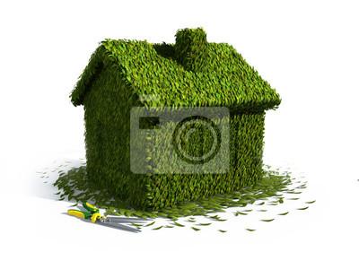 Постер Оформление офиса Концепция экологии дом из травы с ножницами, 27x20 см, на бумагеЗагородная недвижимость<br>Постер на холсте или бумаге. Любого нужного вам размера. В раме или без. Подвес в комплекте. Трехслойная надежная упаковка. Доставим в любую точку России. Вам осталось только повесить картину на стену!<br>