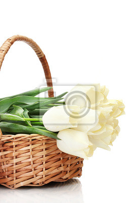 Постер Тюльпаны Красивые тюльпаны в корзине, изолированных на белый.Тюльпаны<br>Постер на холсте или бумаге. Любого нужного вам размера. В раме или без. Подвес в комплекте. Трехслойная надежная упаковка. Доставим в любую точку России. Вам осталось только повесить картину на стену!<br>