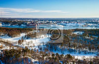 Постер Стокгольм Вид на панораму города Стокгольм, Швеция.Стокгольм<br>Постер на холсте или бумаге. Любого нужного вам размера. В раме или без. Подвес в комплекте. Трехслойная надежная упаковка. Доставим в любую точку России. Вам осталось только повесить картину на стену!<br>