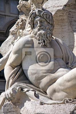 Постер Ватикан Подробно Римского Фонтана на площади Piazza Navona, Рим, Италия.Ватикан<br>Постер на холсте или бумаге. Любого нужного вам размера. В раме или без. Подвес в комплекте. Трехслойная надежная упаковка. Доставим в любую точку России. Вам осталось только повесить картину на стену!<br>
