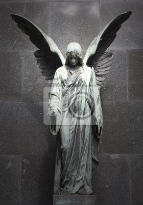 Постер Польша Памятник старый Ангел на кладбище в ВаршавеПольша<br>Постер на холсте или бумаге. Любого нужного вам размера. В раме или без. Подвес в комплекте. Трехслойная надежная упаковка. Доставим в любую точку России. Вам осталось только повесить картину на стену!<br>