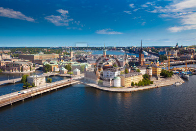 Постер Швеция Панорама города СтокгольмШвеция<br>Постер на холсте или бумаге. Любого нужного вам размера. В раме или без. Подвес в комплекте. Трехслойная надежная упаковка. Доставим в любую точку России. Вам осталось только повесить картину на стену!<br>