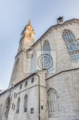 Постер Зальцбург Францисканская церковь (Franziskanerkirche) в Зальцбург, АвстрияЗальцбург<br>Постер на холсте или бумаге. Любого нужного вам размера. В раме или без. Подвес в комплекте. Трехслойная надежная упаковка. Доставим в любую точку России. Вам осталось только повесить картину на стену!<br>