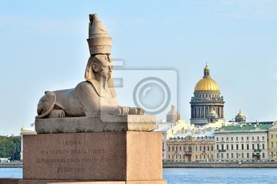 Постер Архитектура Сфинкс в Санкт-Петербург, Россия, 30x20 см, на бумагеСфинксы<br>Постер на холсте или бумаге. Любого нужного вам размера. В раме или без. Подвес в комплекте. Трехслойная надежная упаковка. Доставим в любую точку России. Вам осталось только повесить картину на стену!<br>