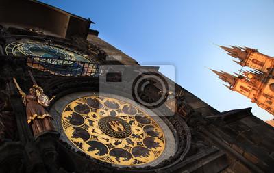 Постер Прага Известные пражские памятники: астрономические часы (Пражский Орлой)Прага<br>Постер на холсте или бумаге. Любого нужного вам размера. В раме или без. Подвес в комплекте. Трехслойная надежная упаковка. Доставим в любую точку России. Вам осталось только повесить картину на стену!<br>