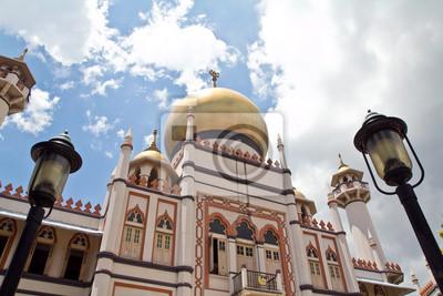 Постер Сингапур Мечеть султана в СингапуреСингапур<br>Постер на холсте или бумаге. Любого нужного вам размера. В раме или без. Подвес в комплекте. Трехслойная надежная упаковка. Доставим в любую точку России. Вам осталось только повесить картину на стену!<br>