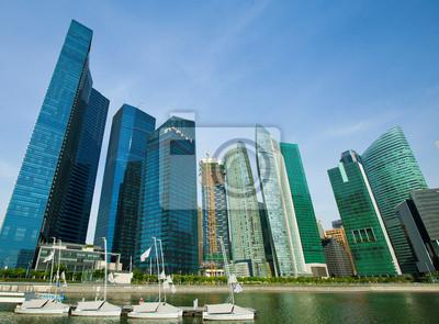 Постер Города и карты Небоскребы делового района Сингапура, 27x20 см, на бумагеСингапур<br>Постер на холсте или бумаге. Любого нужного вам размера. В раме или без. Подвес в комплекте. Трехслойная надежная упаковка. Доставим в любую точку России. Вам осталось только повесить картину на стену!<br>