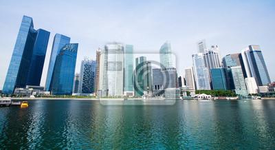 Постер Сингапур Широкая Панорама Города СингапурСингапур<br>Постер на холсте или бумаге. Любого нужного вам размера. В раме или без. Подвес в комплекте. Трехслойная надежная упаковка. Доставим в любую точку России. Вам осталось только повесить картину на стену!<br>
