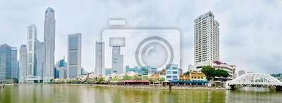 Постер Сингапур Сингапур-реки, набережную с skyscrappers и ресторановСингапур<br>Постер на холсте или бумаге. Любого нужного вам размера. В раме или без. Подвес в комплекте. Трехслойная надежная упаковка. Доставим в любую точку России. Вам осталось только повесить картину на стену!<br>