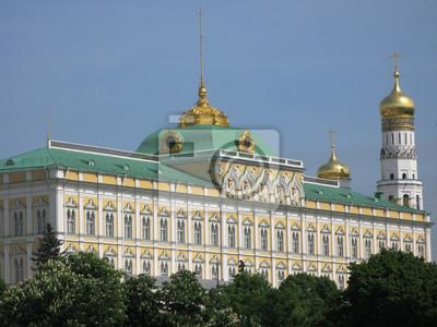 Постер Москва Кремлевский дворец в МосквеМосква<br>Постер на холсте или бумаге. Любого нужного вам размера. В раме или без. Подвес в комплекте. Трехслойная надежная упаковка. Доставим в любую точку России. Вам осталось только повесить картину на стену!<br>