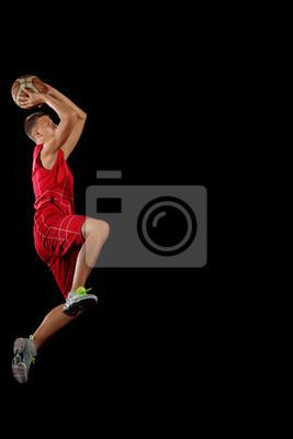 Постер Баскетбол Баскетболист с мячомБаскетбол<br>Постер на холсте или бумаге. Любого нужного вам размера. В раме или без. Подвес в комплекте. Трехслойная надежная упаковка. Доставим в любую точку России. Вам осталось только повесить картину на стену!<br>