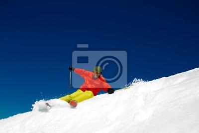 Фрирайд в свежий снег - человек downhill, 30x20 см, на бумагеГорные лыжи<br>Постер на холсте или бумаге. Любого нужного вам размера. В раме или без. Подвес в комплекте. Трехслойная надежная упаковка. Доставим в любую точку России. Вам осталось только повесить картину на стену!<br>
