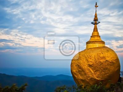 Постер Страны Golden Rock, Kyaiktiyo Пагода, Мьянма, 27x20 см, на бумагеМьянма (Бирма)<br>Постер на холсте или бумаге. Любого нужного вам размера. В раме или без. Подвес в комплекте. Трехслойная надежная упаковка. Доставим в любую точку России. Вам осталось только повесить картину на стену!<br>
