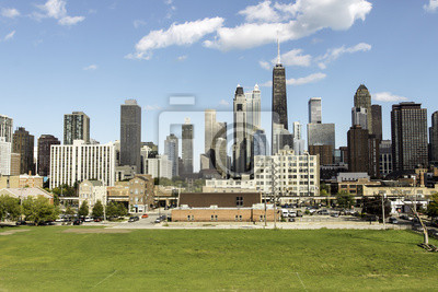 Постер Города и карты Город Чикаго, 30x20 см, на бумагеЧикаго<br>Постер на холсте или бумаге. Любого нужного вам размера. В раме или без. Подвес в комплекте. Трехслойная надежная упаковка. Доставим в любую точку России. Вам осталось только повесить картину на стену!<br>