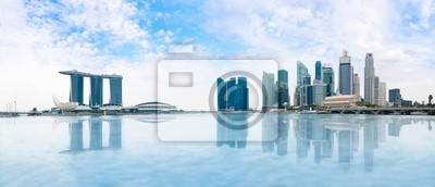 Постер Города и карты Сингапур skyline панорама, 47x20 см, на бумагеСингапур<br>Постер на холсте или бумаге. Любого нужного вам размера. В раме или без. Подвес в комплекте. Трехслойная надежная упаковка. Доставим в любую точку России. Вам осталось только повесить картину на стену!<br>