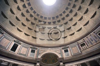 Постер Рим Интерьер вид на купол Пантеона в Риме, Италия.Рим<br>Постер на холсте или бумаге. Любого нужного вам размера. В раме или без. Подвес в комплекте. Трехслойная надежная упаковка. Доставим в любую точку России. Вам осталось только повесить картину на стену!<br>